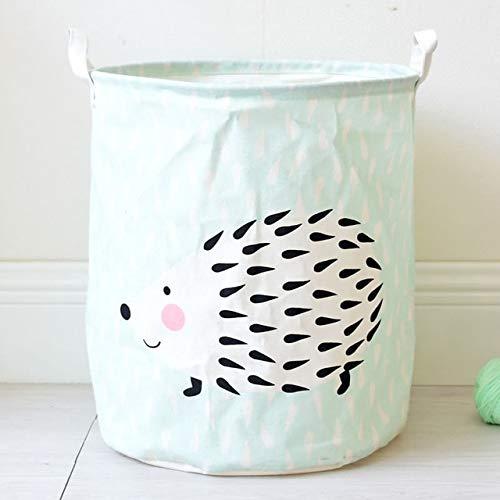 N / A Einfache wasserdichte zusammenklappbare Wäschekorb Kleidung Aufbewahrungseimer stehend Kinder Spielzeug Aufbewahrungseimer Wäschekorb Aufbewahrungstasche blau