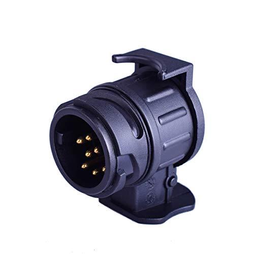 EKYLIN 13 Pin zu 7 Pin Trailer Adapter für Anhängerkupplung Truck Caravan Stecker Steckdose Stecker nach europäischem Standard Wasserdicht