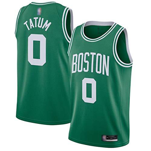 FTING Camisetas de entrenamiento de baloncesto para hombre Boston Tatum #0 Verde, Jayson Celtics 2020/21 Swingman Jersey camisas para hombre - Edición icono