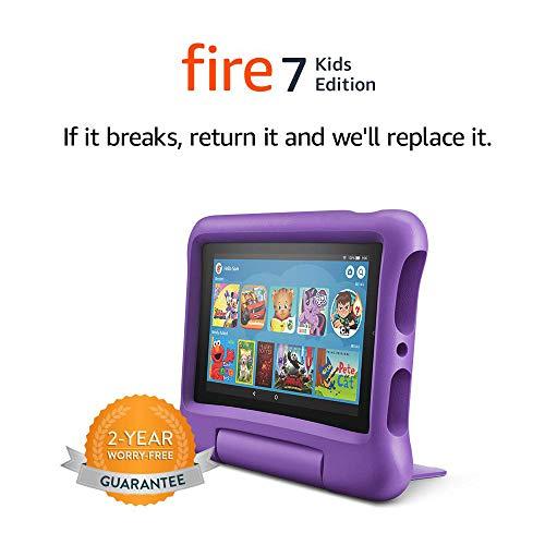Fire 7 Kids Tablet, 7' Display, 16 GB, Purple...