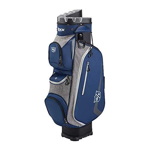 Wilson Staff Golftasche, I LOCK III Cart Bag, Trolleytasche, Für bis zu 9 Eisen, Blau/Grau, 3,2 kg, WGB4330NA
