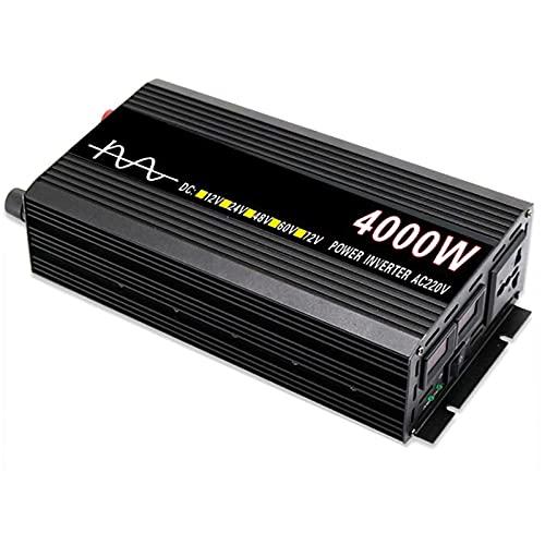 RUIFANG Inversor de energía de Onda sinusoidal Pura 2000W / 4000W DC 12V / 24V / 48V a AC 230V / 240V inversores solares de Coche con convertidor de Voltaje de Pantalla LED,24v 220v 4000w