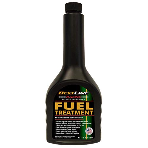 BestLine Fuel Treatment Premium Gasoline Conditioner with Nano Diamond Lubricant Technology for Improved Gas Mileage in Cars Trucks Motorcycles