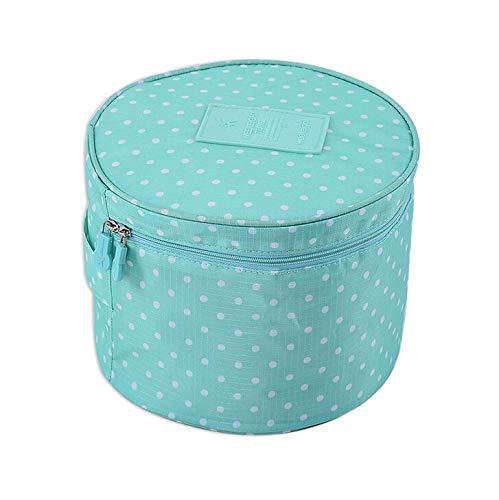 Laat Aufbewahrungstasche für Make-up, wasserdicht, groß, Schutztasche für BHs, Unterwäsche, Socken, blau, 14x14x19cm