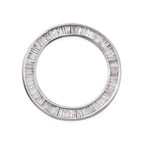 TJC White Diamond I3/G-H Circle Of Life Pendant for Women in 9ct White Gold SGL Certified, TCW 0.5ct.