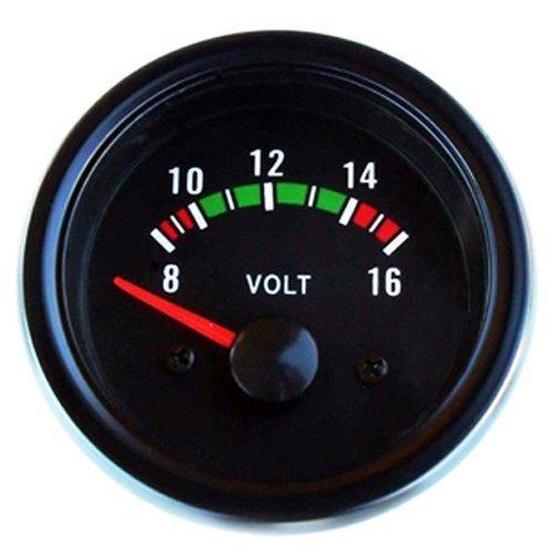 Voltmeter Anzeige 52mm Retro Oldschool Zusatzinstrument Zusatzanzeige Instrument Storm Spannung universal