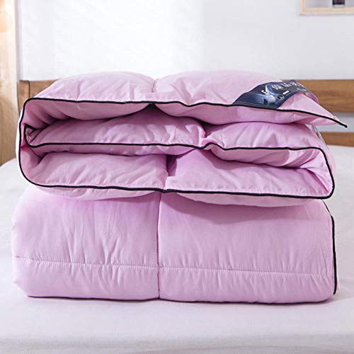 CHOU DAN Double Duvet,Thickened Duvet 95 White Goose Down Winter Quilt Single Spring And Autumn Quilt Double Warm Quilt-Pink_150x200cm 3000g