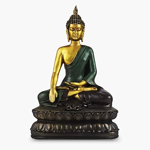 KOSHSH Estatua Buda Estatuilla Adornos Chinos Sakyamuni Estatua Buda Consagrado en Sala Estar Gabinete Vino Decoración del hogar Oficina Zen Tienda Decoración meditación