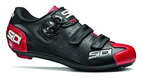 Sidi Alba 2 - Zapatillas de Ciclismo para Hombre, Color Negro y Rojo, Talla 48