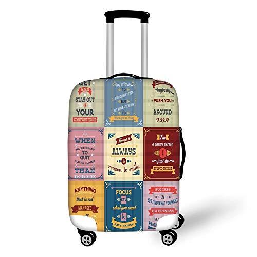 Reizen Bagage Cover Koffer Beschermer, Parijs Decor, Grunge Illustratie van Eiffel met Lantaarns Europese Levensstijl Cultuur Artwork Print,Rood Zwart Geel, voor Reizen