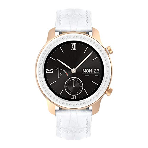 BINLUN Uhrenarmbänder Kompatibel mit Amazfit Bip/GTS/GTR 42mm 47mm, Amazfit Pace/Stratos Smartwatch Original Lederarmbänder Ersatz 20mm 22mm Armband Armband für Herren