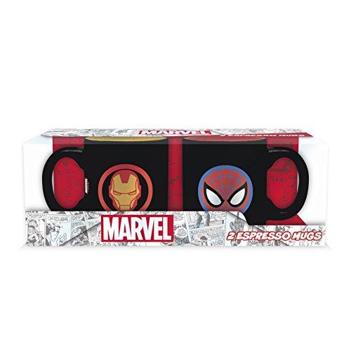 ABYstyle - MARVEL - Set 2 mini-Tazas - 110 ml - Iron Man y Spider-Man