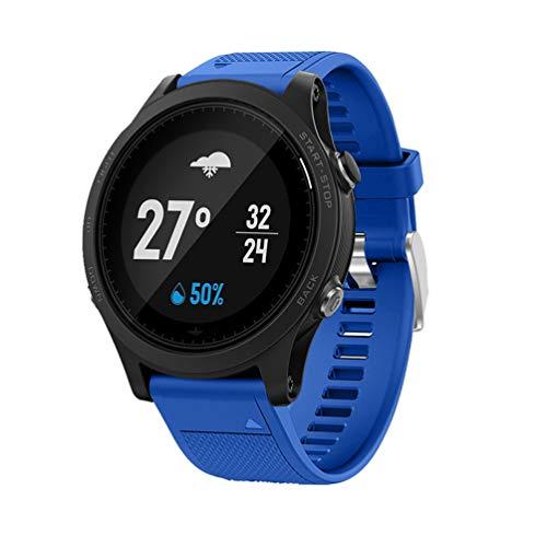 TopTen Quick Fit 22mm Correa de silicona para reloj deportivo, accesorios de repuesto, pulsera compatible con Garmin Forerunner 935 / Fenix 5/5 Plus / Fenix 6/6 Pro Smartwatch