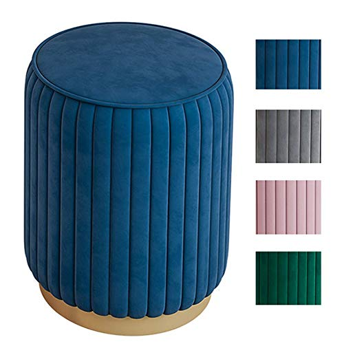 Ottoman Shoe Change At The Door Of Home Simple Light Sofa Round Footstool Leisure Stool Vanity Stool For Office Building Living Room Bedroom D