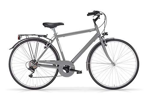 MBM Touring U TKK 28' Acc 6V, Bicicleta para Hombre, Gris Titanio A27, 50