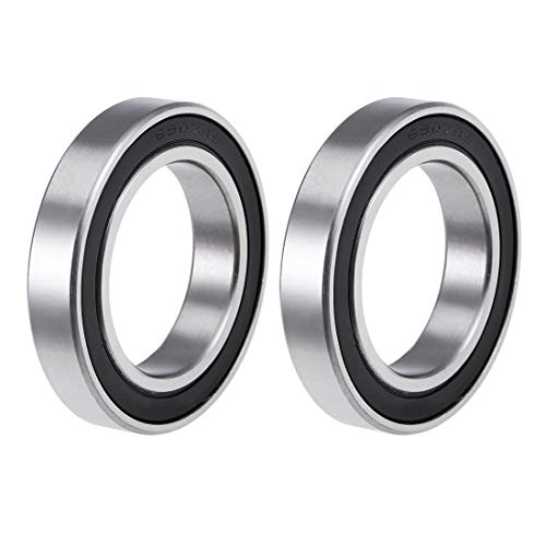 uxcell 6907-2RS Deep Groove Ball Bearings Z2 35mm X 55mm X 10mm Double Shielded Carbon Steel 2pcs