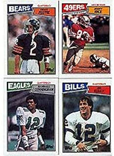 1987 Topps Football Complete Near Mint to Mint Hand Collated 396 Card Set. Includes the Rookie Cards of Doug Flutie, Randall Cunningham and Jim Kelly, Hershel Walker and Others. Loaded with Stars and Hall of Famers Including Dan Marino, John Elway, Walter Payton, Joe Montana, Jerry Rice, Reggie White, Steve Young and More!!