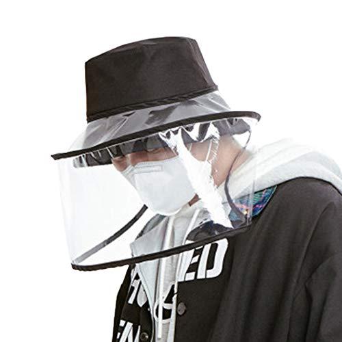 Miaouyo 2020 Bonnet de pêche Unisexe en PVC Anti-buée et Anti-poussière avec Couverture Transparente - - Taille Unique