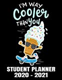 I'm Way Cooler Student Planner 2020 - 2021: Funny Ice Cream & Skateboard Calendar - Daily Academic School Organizer Calendar 2020 - 2021 Notebook - Monthly Weekly Planner