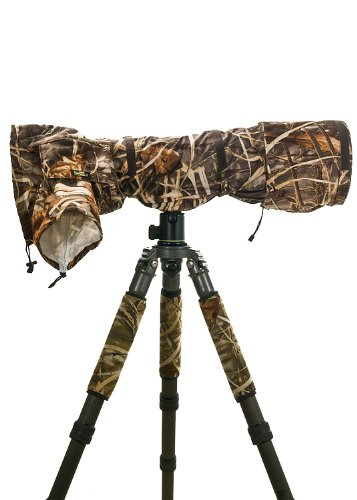LensCoat Raincoat Pro (Realtree Max4 HD) Camera Lens rain Sleeve Cover Camouflage Protection LCRCPM4