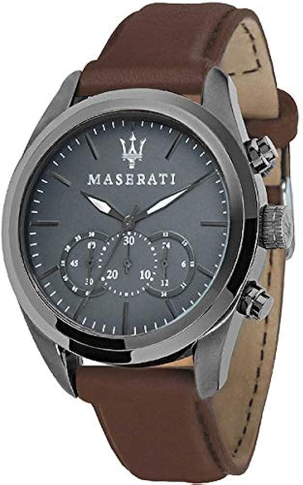 Maserati orologio cronografo uomo con cinturino in pelle R8871612018
