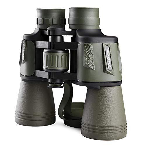 WYLDDP Binoculares Militares 20x50, binoculares Impermeables con Noche de Poca luz para Adultos, para observación de Aves, Viajes, Caza, canotaje de fútbol