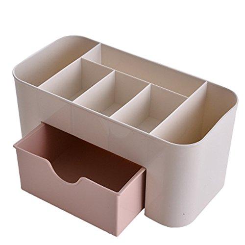 Demarkt 1pcs Boîtier cosmétique de Bureau uni Boîte de Rangement de boîte à Bijoux Multifonctions ménagère (Gris) 22 * 10 * 10.3CM