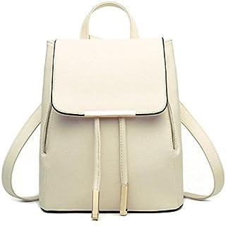 Backpacks,Han Shi Women Girls Leather Schoolbags Travel Casual Shoulder Bag Mochila