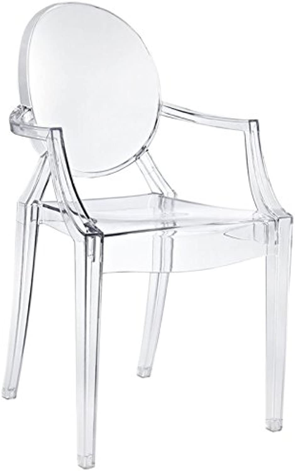 Hawthorne Collections Clear Dining Arm Chair