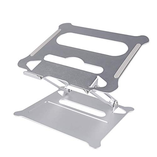 Laptop Stand Aluminum Ventilation and Cooling MultiFunction Digital Creative Stand Manual Folding Lift Base Laptop Stand can Also be Used for Tablet Ipad Less Than 17 Inches No Sliding