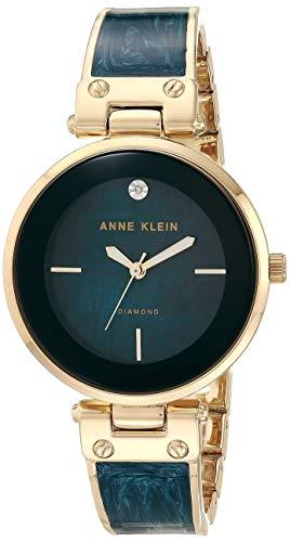 Reloj de pulsera de Anne Klein, de mármol, color dorado y azul marino