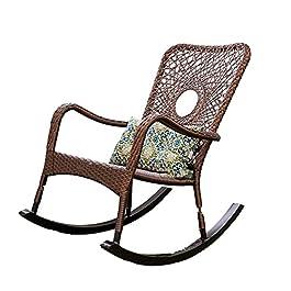 GaoF Chaises à Bascule de Loisirs Balcon Chaise à Bascule Chaise à Bascule en rotin Domestique Chaise Longue Lazy Rotin…