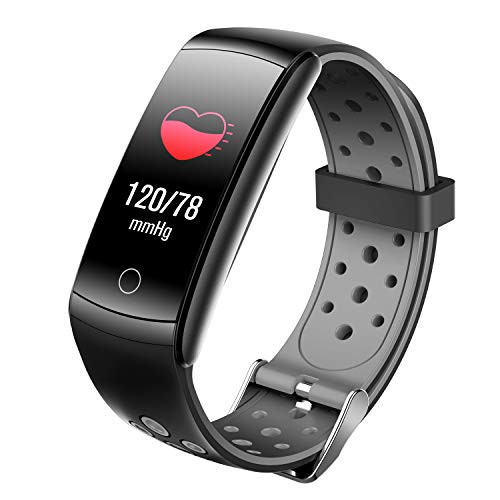 Smart Watches For Men Women, Multi-sport Modes Fitness Trackers With Silicone Band,Heart Rate Monitor Smartwatch,Swim Water Resist Calorie Counter Smart Rings,Smart Wristband With Sleep Monitor (grey)