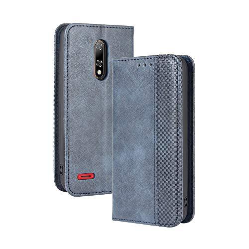 LAGUI Kompatible für Ulefone Note 8P Hülle, Leder Flip Hülle Schutzhülle für Handy mit Kartenfach Stand & Magnet Funktion als Brieftasche, Blau