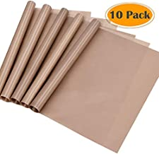 selizo 10 Pack Teflon Sheet for Heat Press Transfer Sheet Non Stick 12''x16'' Heat Press Transfer Paper Heat Resistant Craft Mat