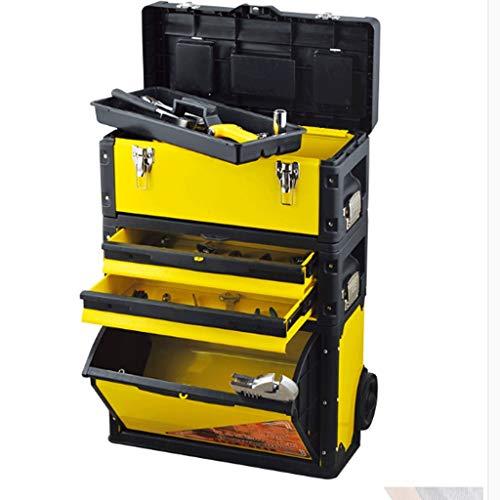 Cajas de herramientas Cajas de herramientas for la carretilla Multifuncional en las tres capas de tracción combinada Caja de Herramientas Barra de herramientas de alta capacidad cofres del vehículo mu