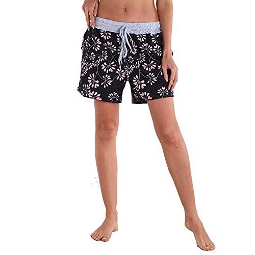 Pantalones Cortos Deportivos Casuales De Yoga para Mujer, Cintura Elástica con Cordón De Verano con Bolsillos, Pantalones Cortos De Entrenamiento para Correr,6,M