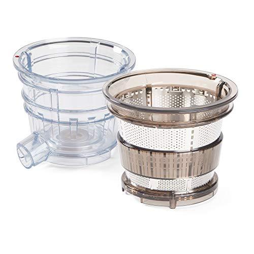 Kuvings Sapcentrifuge Whole Slow Juicer EVO820 Sapcentrifuge voor fruit en groente, elektrische sappers met XXL trechter voor eenvoudig vullen zonder hakmolen. BPA-vrij. Voor het maken van sappen en mengsappen. Zubehör - Transparent