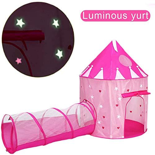 LITI Club pop Up Kinderspielzelt Spielhaus Tragetasche Kinder Spielzelt Bällebad für Mädchen Prinzessin Drinnen Draußen Rosa