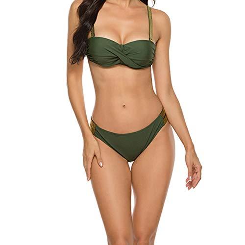 beeyuk Conjunto de Bikinis para Mujer Traje de Baño de Mujer Dividido Sexy de Verano Ropa de Playa de Dos Piezas para Mujer Traje de Baño Favorecedor Biological