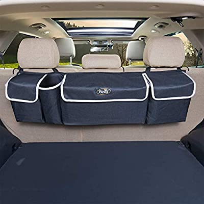 YoGi Prime car Organizer, Trunk Storage, Trunk Organizer Will Provides You The Most Storage Space Possible, Use It As A Back Seat StorageCar Cargo Organizer and Free Your Trunk Floor (Black-Hang) from YoGi Prime