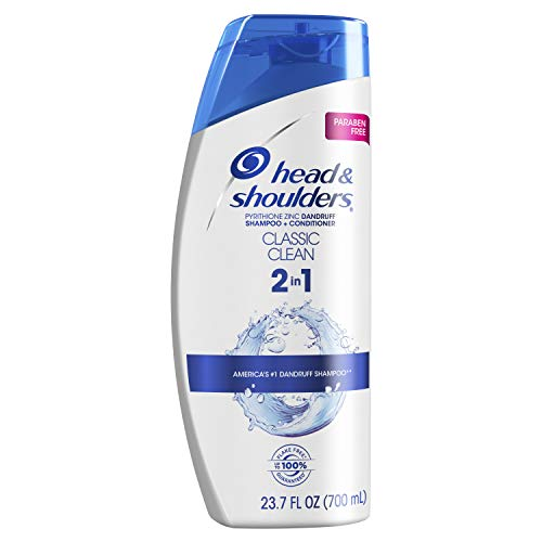 Head and Shoulders Classic Clean Anti-Dandruff 2 in 1 Paraben Free Shampoo and Conditioner, 23.7 fl oz