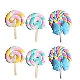 Hemoton 6 PC Nevera Lollipop Pegatinas de Dibujos Animados imanes en Forma de cerámica Suave...