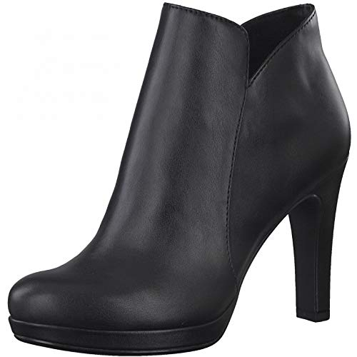 Tamaris Damen Ankle Boots, Frauen Stiefeletten,Touch It-Fußbett,Stiefel,Kurzstiefel,Booties,knöchelhoch,reißverschluss,Ladies,Black,39 EU / 5.5 UK