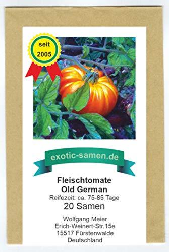Fleischtomate - Old German - zweifarbig - 20 Samen