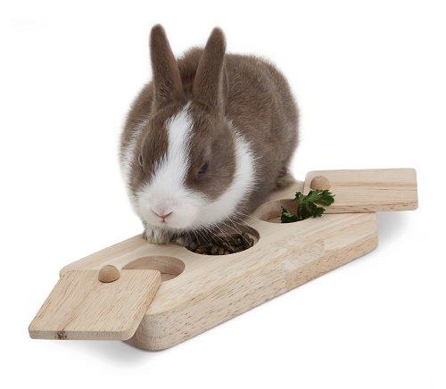 Living World Green interaktives Intelligenzspielzeug -Drehspiel- für Meerschweinchen und Kaninchen - 3