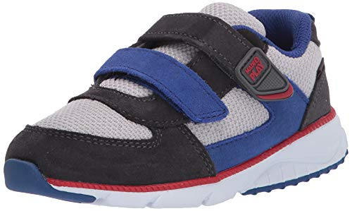 Stride Rite Boys Rosie Girl's Lightweight Leather Sneaker, navy, 4 M US Toddler