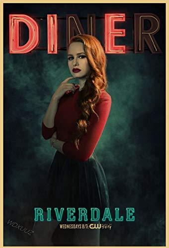 wojinbao American Drama Suspense Crime Series de TV Riverdale Retro Poster Hight Quality Home Decor Wall Art Room Decor Picture(Sin Marco)