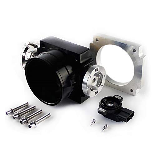 MMGANG Sensor TPS 90mm inversa Cuerpo del Acelerador con el Ajuste for Toyota Supra 1JZ Negro (Negro) (Color : Black)
