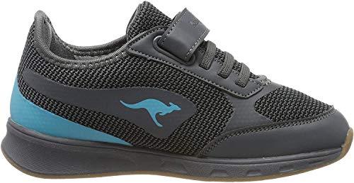 KangaROOS Sprint Ev, Zapatillas de Deporte Interior Unisex Niños, Grau (Steel Grey/Turquoise 2106), 36 EU